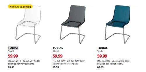 IKEA Köln-Godorf - TOBIAS Stuhl, verchromt (transparent,grau oder blau) - jetzt 14% billiger