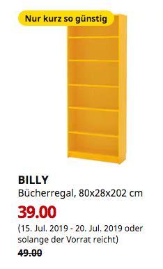 IKEA Kaarst - BILLY Bücherregal, gelb, 80x28x202 cm - jetzt 20% billiger