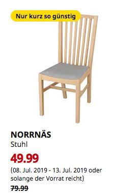 IKEA Kaarst - NORRNÄS Stuhl, Birke, Isunda grau - jetzt 38% billiger