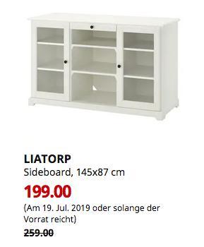 IKEA Kaiserslautern - LIATORP Sideboard, weiß, 145x87 cm - jetzt 23% billiger