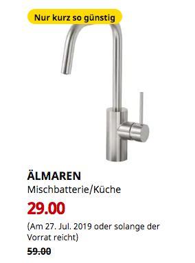 IKEA Kiel - ÄLMAREN Mischbatterie/Küche, stahlfarben - jetzt 51% billiger