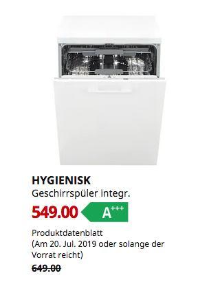 IKEA Koblenz  - HYGIENISK Geschirrspüler integr.,A+++ - jetzt 15% billiger