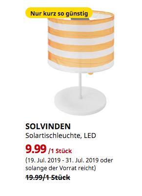 IKEA München-Eching - SOLVINDEN Solartischleuchte, LED, für draußen, gestreift gelb/weiß,45 cm hoch - jetzt 50% billiger