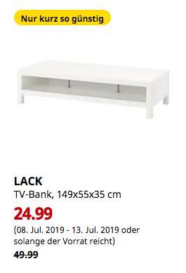 IKEA Magdeburg - LACK TV-Bank, weiß, 149x55x35 cm - jetzt 50% billiger