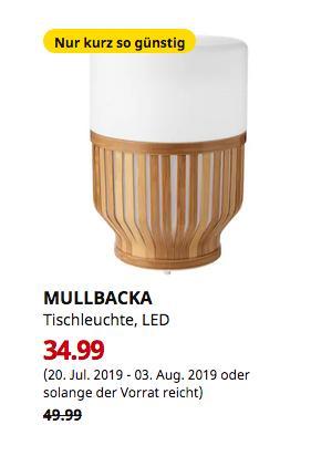 IKEA MULLBACKA Tischleuchte, LED, für draußen, 23 cm hoch - jetzt 30% billiger