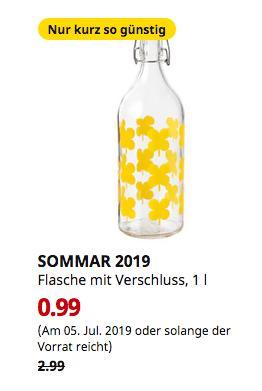 IKEA Oldenburg - SOMMAR 2019 Flasche mit Verschluss, gemustert, 1 l - jetzt 67% billiger