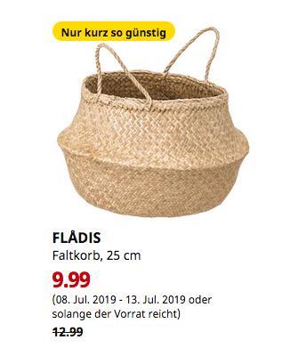 IKEA Wallau - FLADIS Faltkorb, Seegras, 25 cm - jetzt 23% billiger