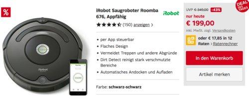 iRobot Saugroboter Roomba 676 - jetzt 31% billiger