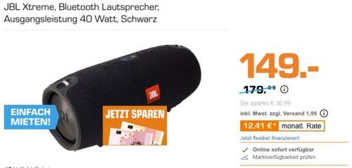 JBL Xtreme 40 Watt Bluetooth Lautsprecher, schwarz - jetzt 17% billiger