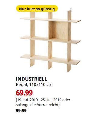 KEA Berlin-Spandau - INDUSTRIELL Regal, 110x110 cm - jetzt 30% billiger