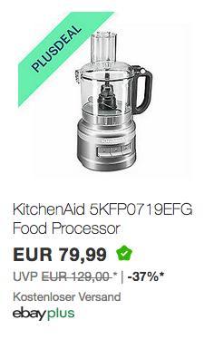 KitchenAid 5KFP0719EFG Food-Processor/Zerkleinerer, 1,7L - jetzt 26% billiger