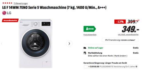LG F14WM7EN0 Serie 5 Waschmaschine (7 kg, 1400 U/Min., A+++) - jetzt 13% billiger