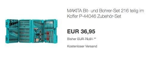 Makita P-44046 Bohrer-/Bit-Set, 216-tlg. - jetzt 24% billiger