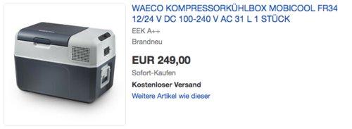 Mobicool FR34 AC/DC - Kompressor-Kühlbox, 31 Liter - jetzt 5% billiger