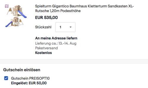 """OSKAR Spielturm """"Gigantico"""" mit  XL-Rutsche, 2,92 x 6,25 m - jetzt 9% billiger"""