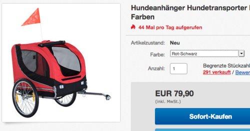 PawHut Fahrradanhänger bis 20 kg Zuladung, Rot-Schwarz - jetzt 16% billiger