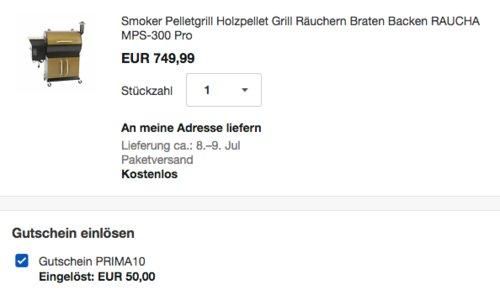 RAUCHA Pellet-Smoker MPS-300 Pro mit einem digitalen 10-Programm-Controller - jetzt 7% billiger