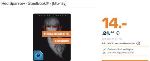 Red Sparrow - SteelBook® - (Blu-ray) - jetzt 22% billiger
