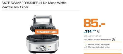 Sage Appliances SWM520 The No-Mess Waffle Waffeleisen, 900 W - jetzt 23% billiger
