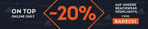 SportScheck.com - 20% Rabatt auf ausgewählte Bademode & Beachwear: z.B. Ragwear Tammy Birds - Jerseykleid, versch. Farben und Größen - jetzt 18% billiger