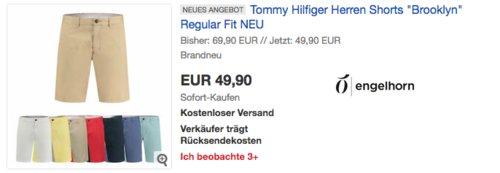 """Tommy Hilfiger Herren Shorts """"Brooklyn"""" Regular Fit, versch. Farben und Größen - jetzt 16% billiger"""