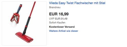 Vileda Easy Twist Flachwischer mit Stiel - jetzt 22% billiger
