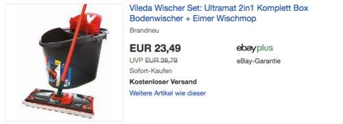 Vileda Ultramat 2in1 Wischer Set (Bodenwischer, Eimer, Wischmop) - jetzt 19% billiger