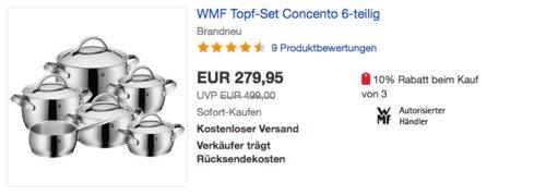 "WMF Topf-Set ""Concento"", 6-teilig - jetzt 22% billiger"