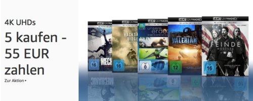 Amazon Aktion: 5 4K Ultra-HDs für 55 EUR - jetzt 50% billiger