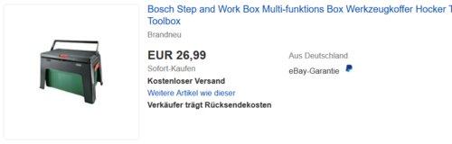 Bosch Step and WorkBox Werkzeugkoffer/Hocker - jetzt 31% billiger