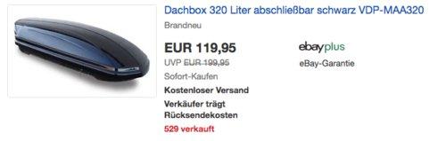 Dachbox VDP-MAA320, 320 Liter - jetzt 25% billiger