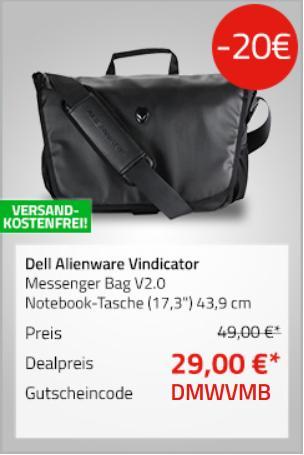 """Dell 460-BCBW Alienware Vindicator Messenger Tasche V2.0 / Notebook-Tasche (17,3"""") 43,9 cm - jetzt 41% billiger"""