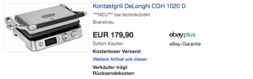 DeLonghi CGH1020D Elektro-Kontaktgrill, 2000 W - jetzt 5% billiger