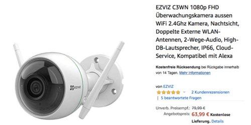 EZVIZ C3WN 1080p WLAN Überwachungskamera - jetzt 19% billiger