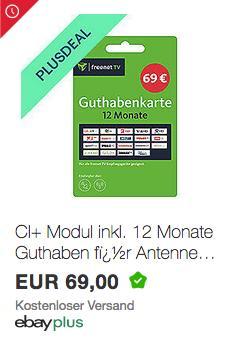 freenet TV Guthabenkarte für 12 Monate inkl. 3 Monate gratis - jetzt 10% billiger