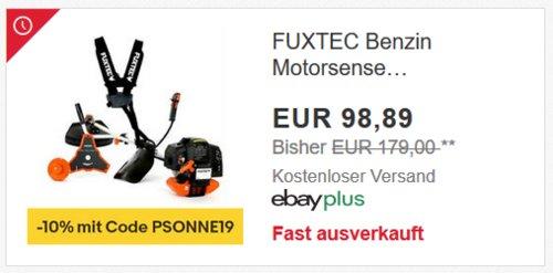 FUXTEC Benzin Motorsense FX-MS152 inkl. Zubehör - jetzt 18% billiger