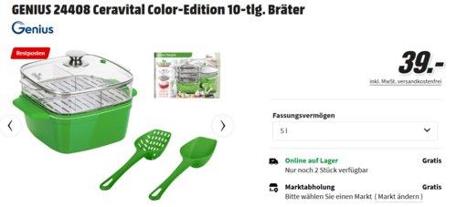 GENIUS 24408 Ceravital Color-Edition Bräter, 10-tlg. - jetzt 20% billiger