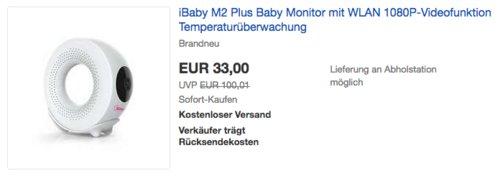 iBaby M2 Plus Babyphone mit 1080P-Videofunktion, Temperatur- / Feuchtigkeitsüberwachung - jetzt 34% billiger