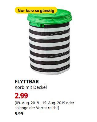 IKEA Berlin-Spandau - FLYTTBAR Korb mit Deckel, grün - jetzt 50% billiger