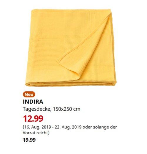 IKEA Berlin-Tempelhof - INDIRA Tagesdecke, 150x250 cm - jetzt 35% billiger