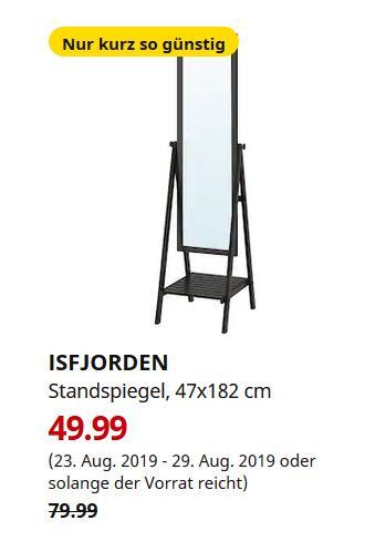 IKEA Berlin-Tempelhof - ISFJORDEN Standspiegel, schwarzbraun gebeizt, 47x182 cm - jetzt 38% billiger