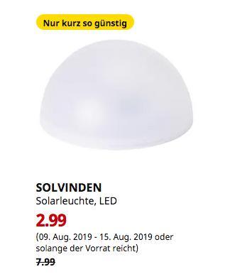 IKEA Berlin-Tempelhof - SOLVINDEN Solarleuchte, LED, für draußen, Halbkugel weiß - jetzt 63% billiger