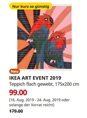 IKEA Brinkum - ART EVENT 2019 Teppich flach gewebt, bunt, 175x200 cm - jetzt 45% billiger