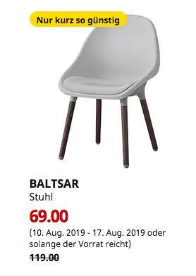 IKEA Brinkum - BALTSAR Stuhl, hellgrau, braun - jetzt 42% billiger