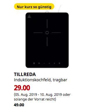 IKEA Düsseldorf - TILLREDA Induktionskochfeld, tragbar,2000 W - jetzt 41% billiger