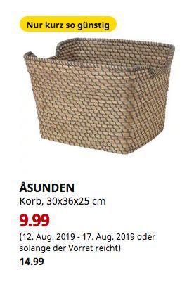 IKEA Dortmund - ASUNDEN Korb, dunkelgrau, 30x36x25 cm - jetzt 33% billiger