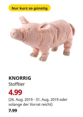 IKEA Dortmund - KNORRIG Stofftier, Schwein, rosa - jetzt 38% billiger