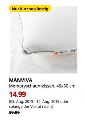 IKEA Dresden - MANVIVA Memoryschaumkissen, 40x50 cm - jetzt 50% billiger