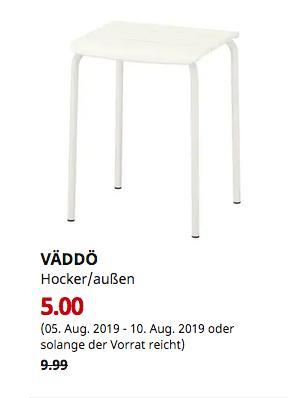 IKEA Erfurt - VÄDDÖ Hocker/außen, weiß - jetzt 50% billiger