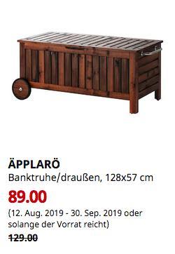 IKEA Freiburg - ÄPPLARÖ Banktruhe/draußen, braun las. braun, 128x57 cm - jetzt 31% billiger